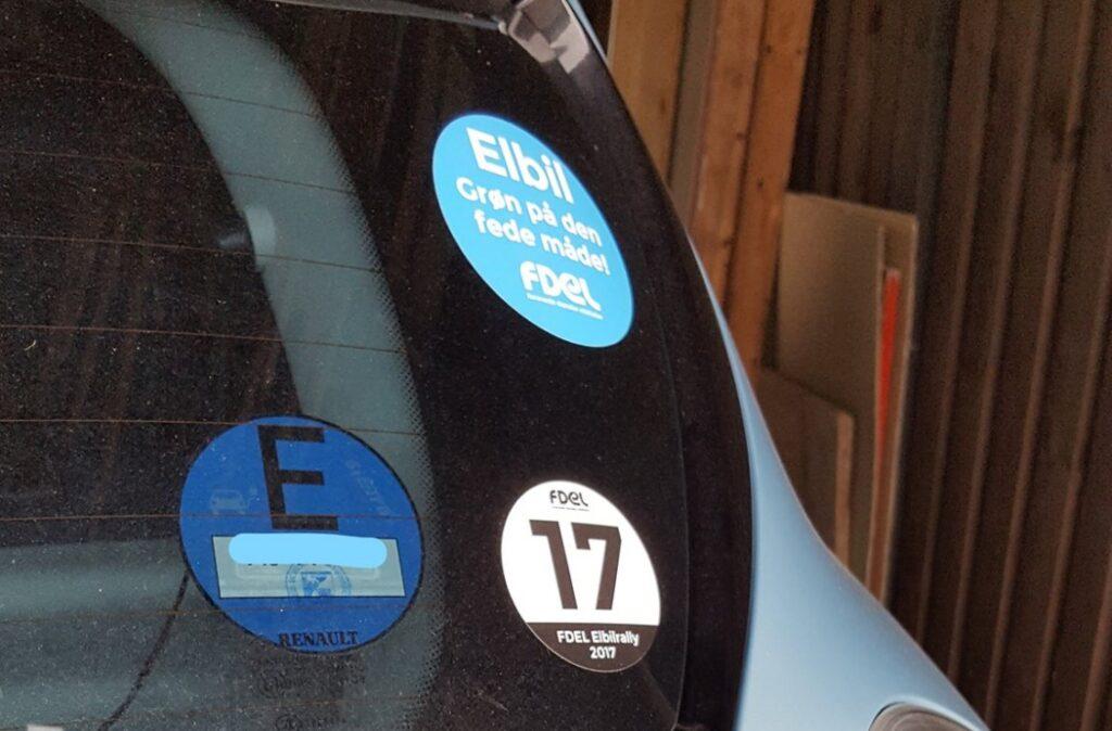 blaue E-Plakette til brug for kørsel i Tyskland