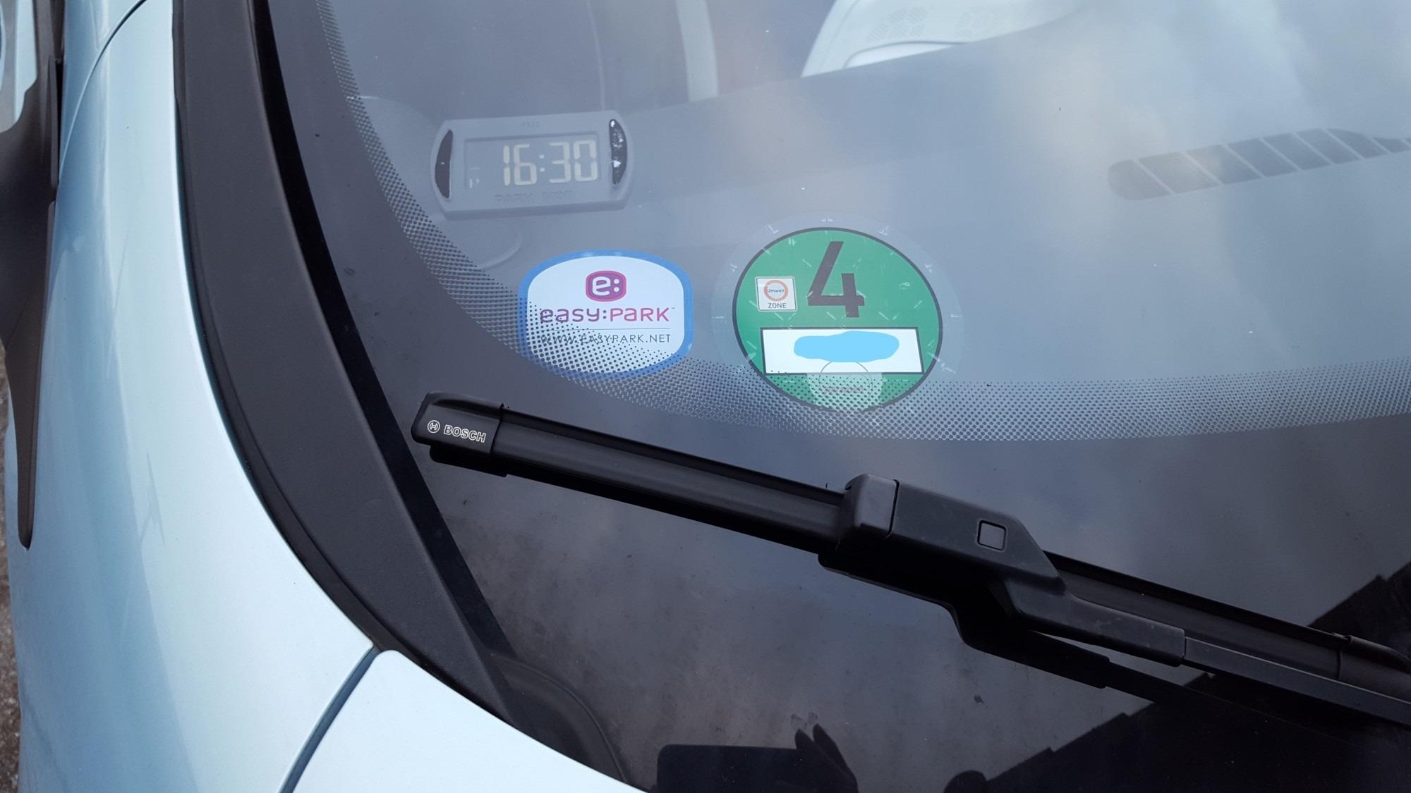 grüne Feinstaubplakette til kørsel i Tyskland